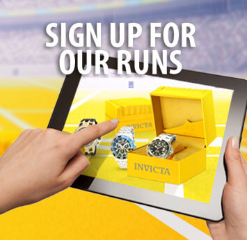 Sign up for our runs