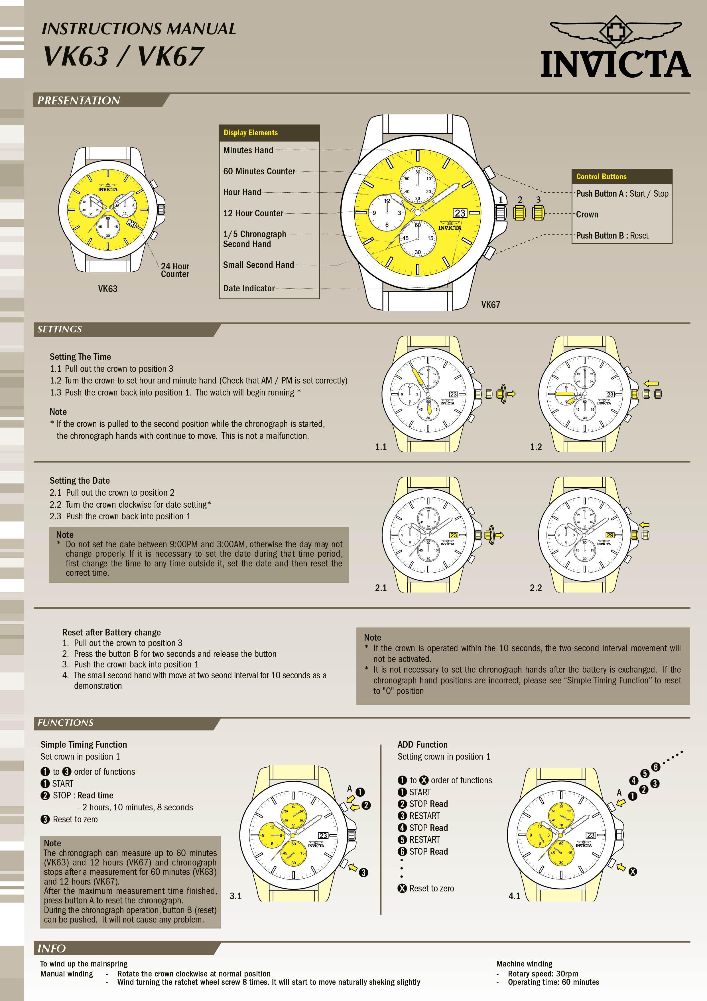 aviator model 22526 invictawatch com rh invictawatch com invicta watch manual 12470 invicta watch manual 13683