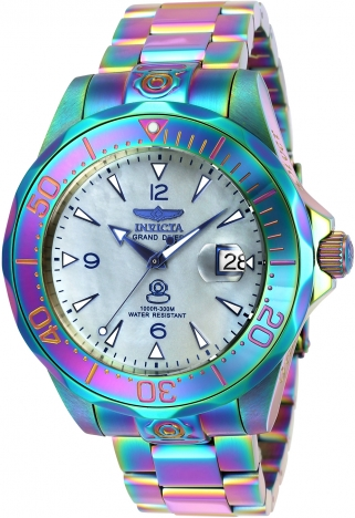 Invicta iridescent abalone watch