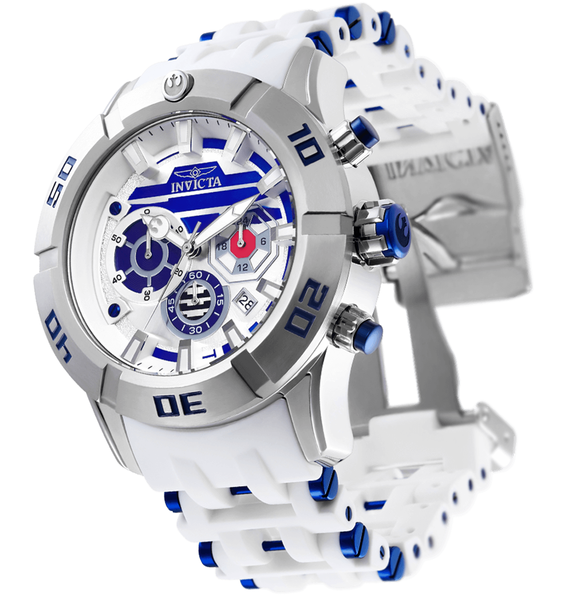 Image of INVICTA Star Wars Men 50mm Stainless Steel Stainless Steel Silver dial VD53 Quartz