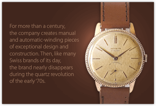 For more than a century, the company creates manual and automatic-winding pieces of exceptional design and construction. Then, like many Swiss brands of its day, the brand nearly disappears during the quartz revolution of the early '70s.